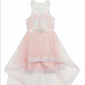 New Rare Editions Hi-lo dress